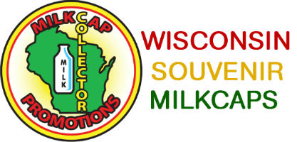 Wisconsin Souvenir Milkcaps